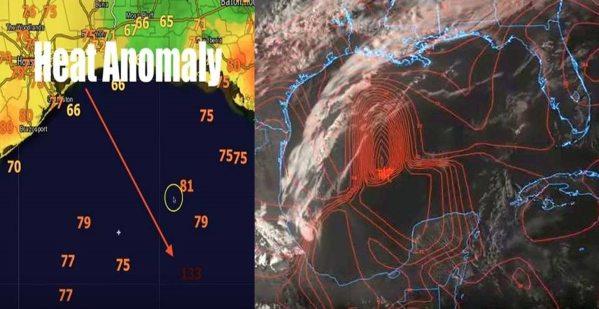Anomalía de calor en el Golfo de México