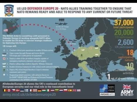 """34. 30.000 soldados de EEUU """"defienden Europa""""contra el virus y los chinos preguntan sobre su origen"""
