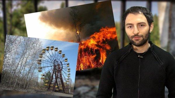 Un terrible incendio amenaza Chernobyl y su reactor