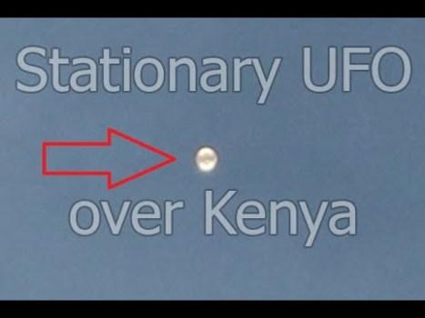 OVNI estacionario sobre Nairobi, Kenia 13-mayo-2020