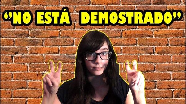 NO ESTÁ DEMOSTRADO
