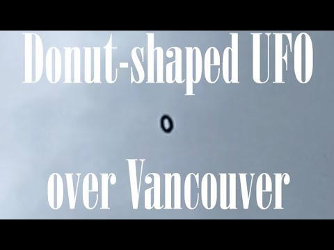 Ovni en forma de rosquilla sobre Vancouver, WA 7-jun-2020
