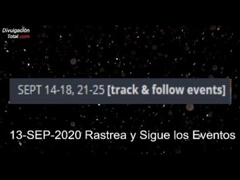 13-SEP-2020 Rastrea y Sigue los Eventos