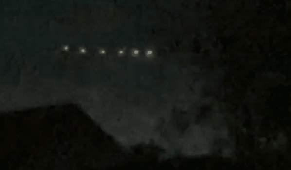 Formación de luces OVNI sobre Chile 22-Nov-2020