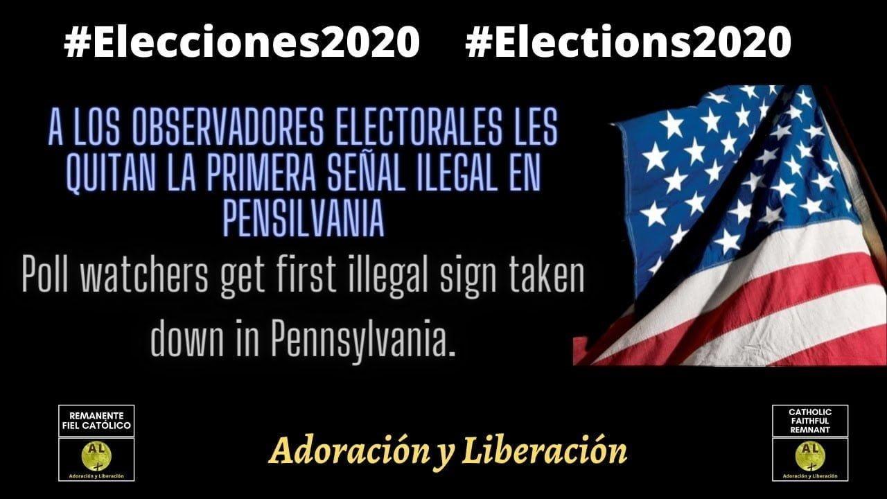 🇺🇸  EN VIVO! 🔴  A los observadores electorales les quitan la primera señal ilegal en Pensilvania ✝️