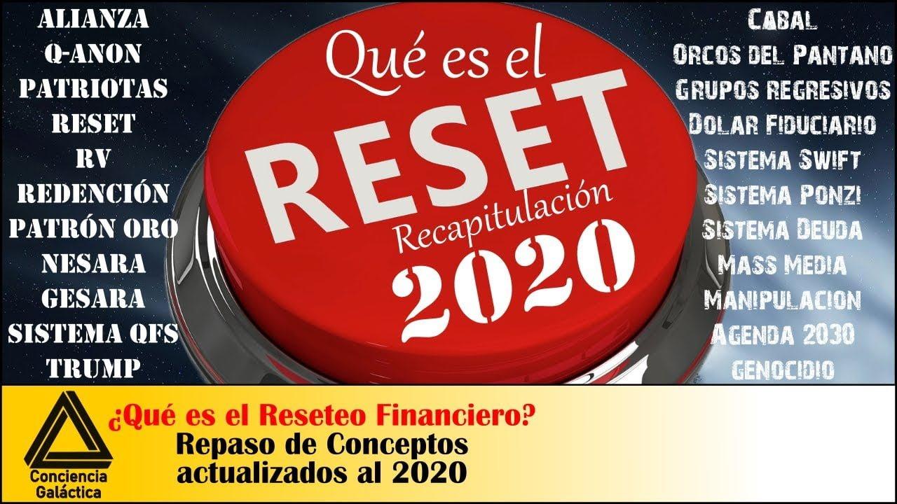 ¿Qué es el Reseteo?: Recapitulación de conceptos 2020