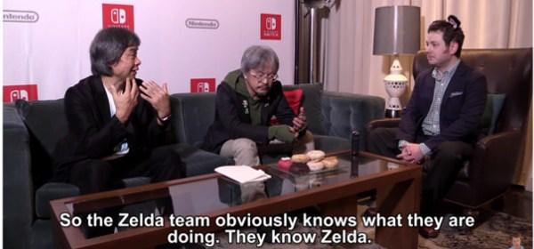 Miyamoto y Aonuma hablan de nuevo sobre Breath of the Wild con un youtuber.