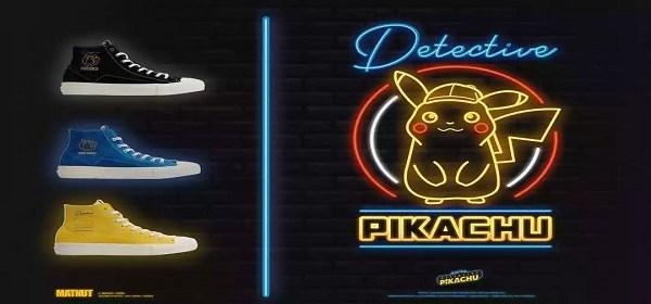 calzado temático de Detective Pikachu