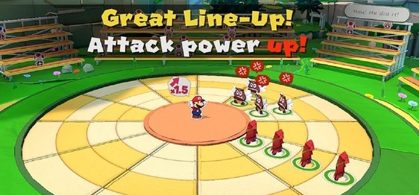 Paper Mario: The Origami King Battle System