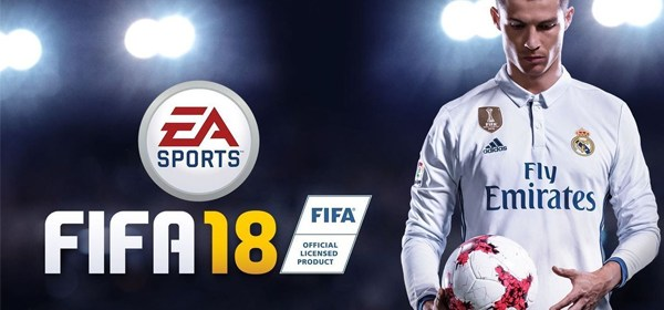FIFA 18 en Nintendo Switch. La estrella de la portada es Cristiano Ronaldo