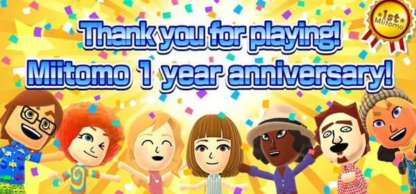 Miitomo primer aniversario Nintendo Mundo N