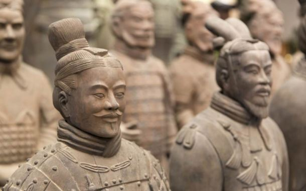 Chinese Terracotta Warriors replicas of real soldiers - inicio