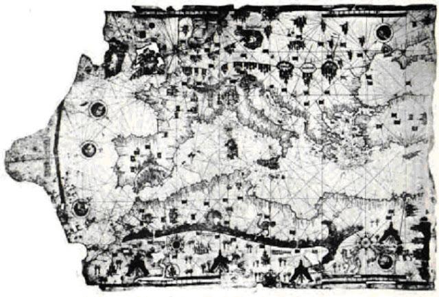 Map of Ibn Ben Zara 28148729 - Mapas antediluvianos: Evidencia de civilizaciones avanzadas antes de la historia escrita #Antediluviano #PiriReis