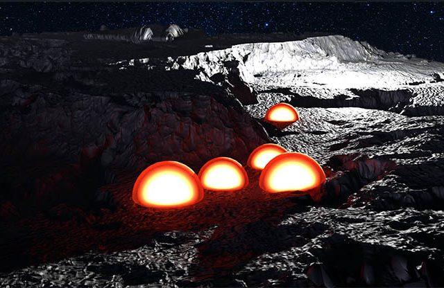 Cúpulas en la cara oculta de la luna