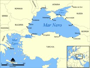 310px Black Sea map it1 - ¿Fue el ARCA de NOÉ un banco de ADN para los DIOSES INSTRUCTORES ETs?