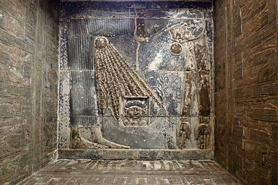 Relieve de la diosa Nut en el Templo de Hathor ubicado en Dendera (CC by SA 4.0 / Hamerani)