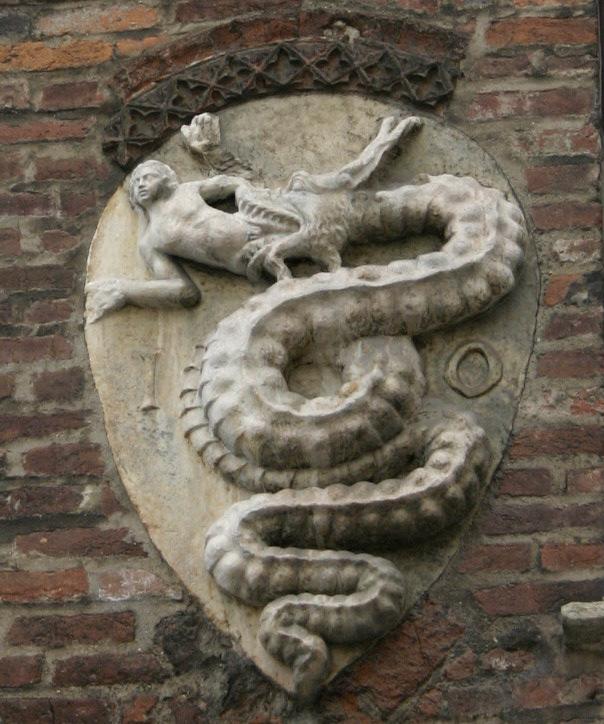IMG 3734   Milano   Stemma visconteo  sullArcivescovado   Foto di Giovanni DallOrto   15 jan 2007 - La Atlántida era: Reptilianos comehombres y anunnakis