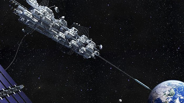 Una empresa japonesa prevé construir un ascensor espacial para 2050