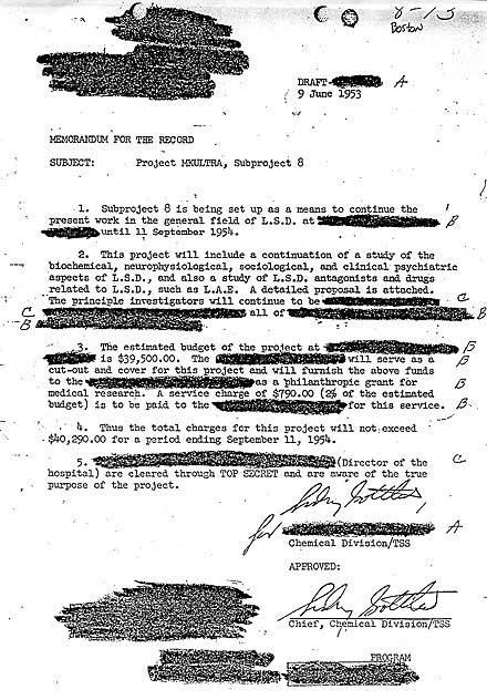 15149969685611673442805 - DOCUMENTO FILTRADO DE LA CIA REVELA LISTA DE DROGAS USADAS EN MK-ULTRA