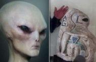 Se descubre una estatua maya de lo que parece ser un alienígena humanoide