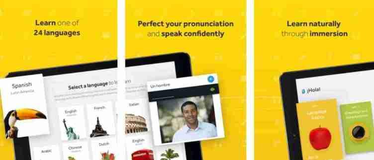 تطبيق Rosetta Stone لتعلم اللغات