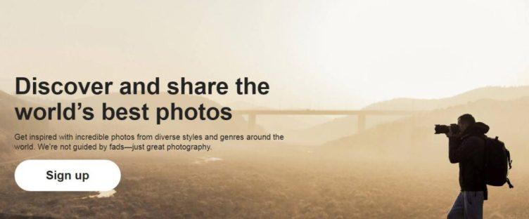 بيع الصور الفوتوغرافية عبر موقع 500px