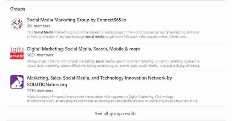 انضم لمجموعات لينكد إن LinkedIn