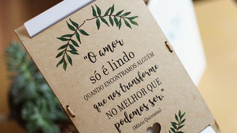 frase maravilhosa para ser usada em convite de casamento