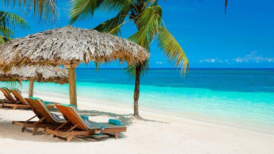 praia no caribe
