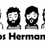 caricatura do grupo musical los hermanos