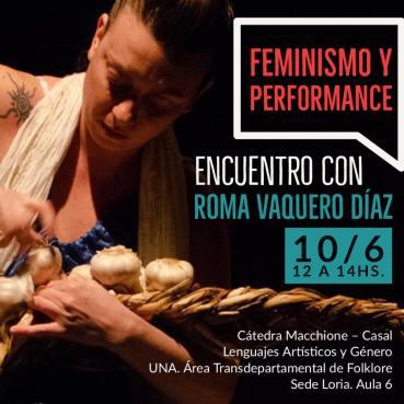 Feminismo y performance UNA 2019