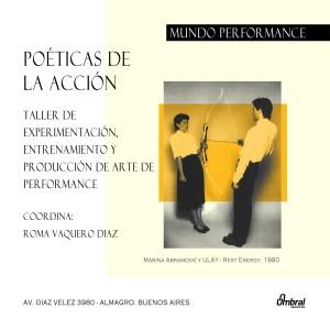 Poéticas de la acción Mundo Performance