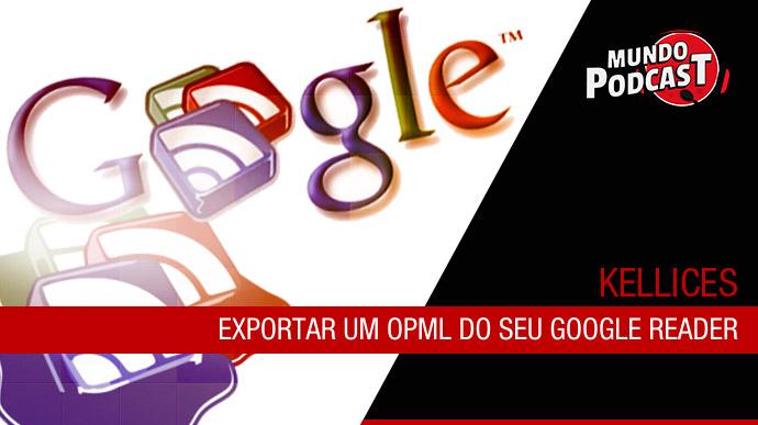 Exportar um OPML do seu Google Reader