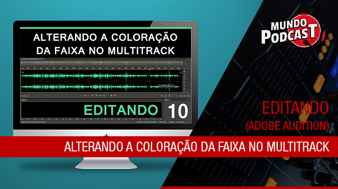Alterando a Coloraçío da Faixa no Multitrack