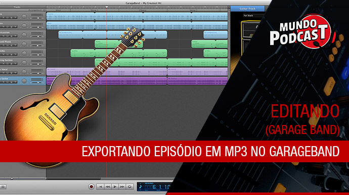 Exportar episódio em MP3 no GarageBand