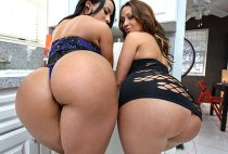 Ass Parade - Becca Diamond, Vanessa Luna - Stunning Big Booty Latina Lesbian Threeway