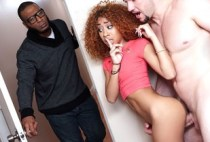 Ebony Sex Tapes - Horny Couple Sneak a Dicking - Kendall Woods