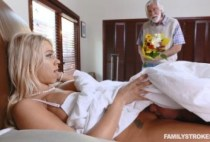 FamilyStrokes - Only Stepson Can Eat Her Pussy Well - Katie Morgan