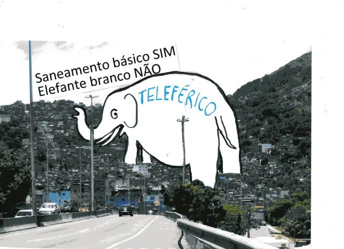 Rocinha quer saneamento e não teleférico