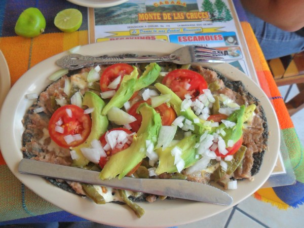 A mexican huarache. it looks so delicious!!