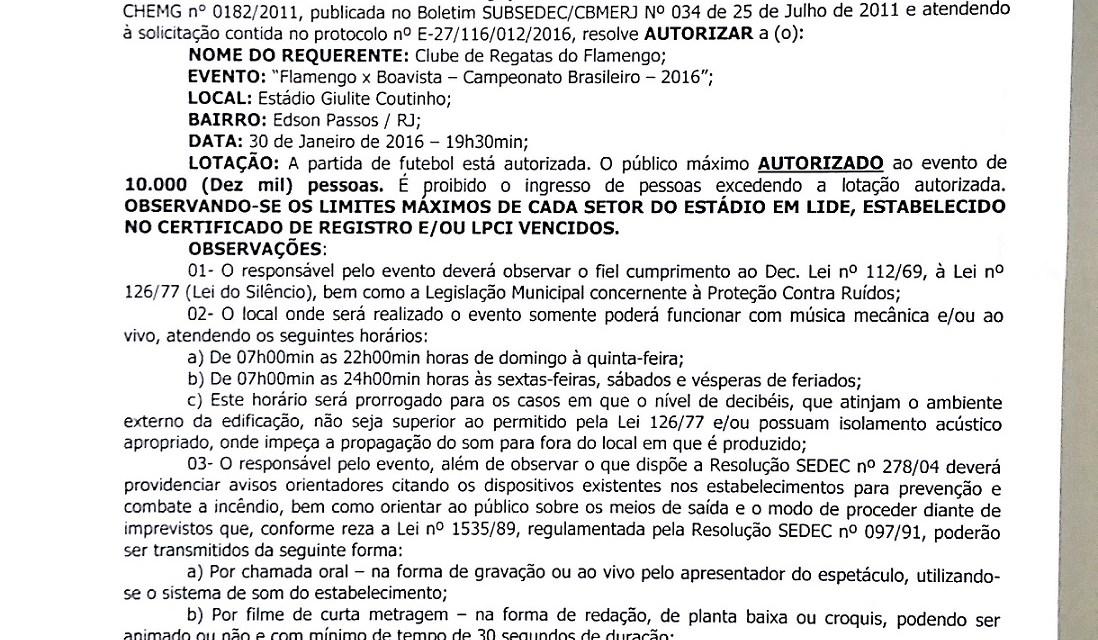 Interdição do Giullite Coutinho: Flamengo confirma jogo