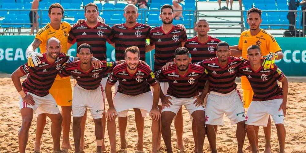 Mengão tem estreia avassaladora na Liga Mundial de Beach Soccer