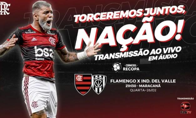 Flamengo x Del Valle: Acompanhe AO VIVO pela Fla TV