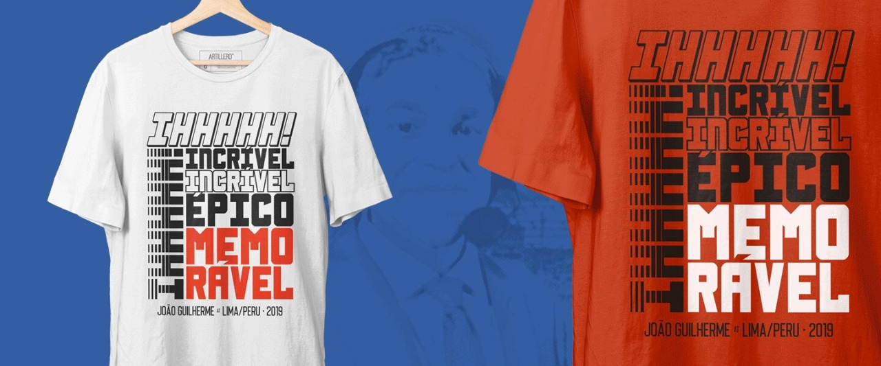 Com anúncio especial, loja Artillero lança camisa inspirada em narração de João Guilherme