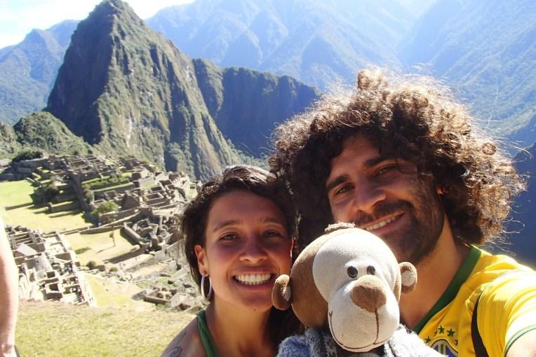 Michele, Renan e Mucuvinha em Machu Picchu