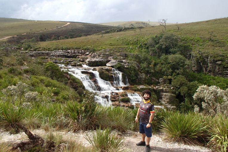 Parte alta da Cachoeira Casca d'Anta, no Parque Nacional.