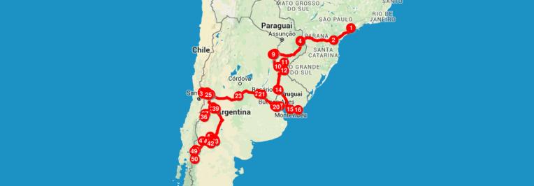 Mochilão de 2 meses pela América do Sul