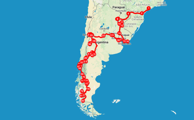 4 meses de mochilão pela América do Sul