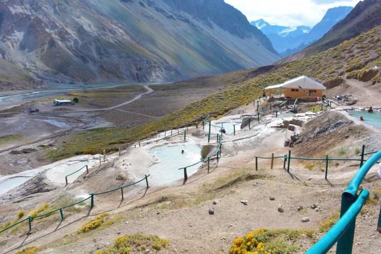 Banhos Colina, piscinas termais no tour do Cajón de Maipo