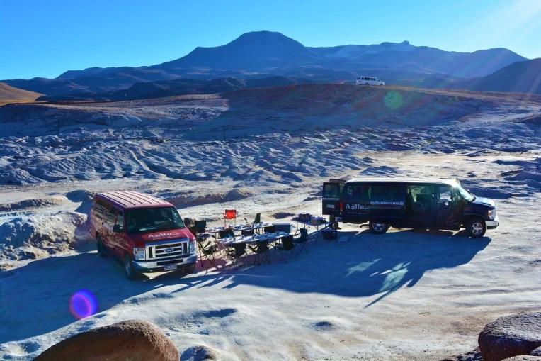 Café-da-manhã em Piedras Rojas, Atacama